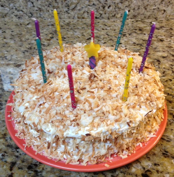 Made by Tim-coconut guava cake