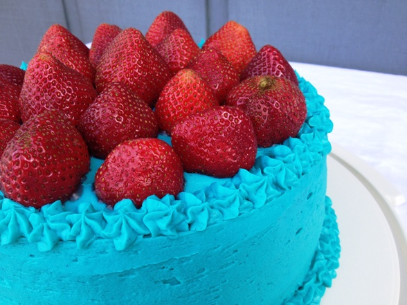 Strawberry Vanilla Cake