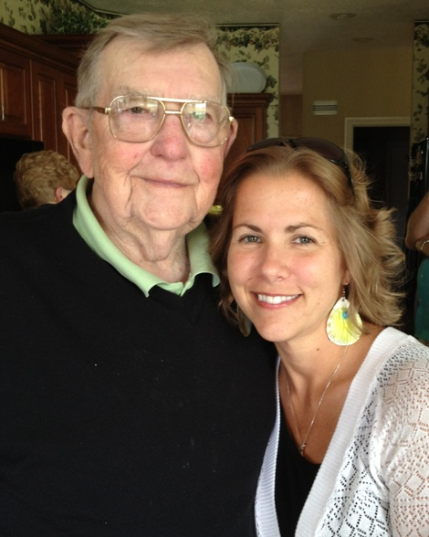Grandpa and I at his 88th birthday party!