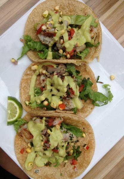 Fish Tacos at Casa Maya