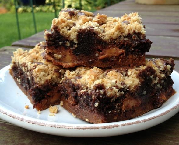 Caramel Oatmeal Brownie Bars   Sugar Coated Sarah