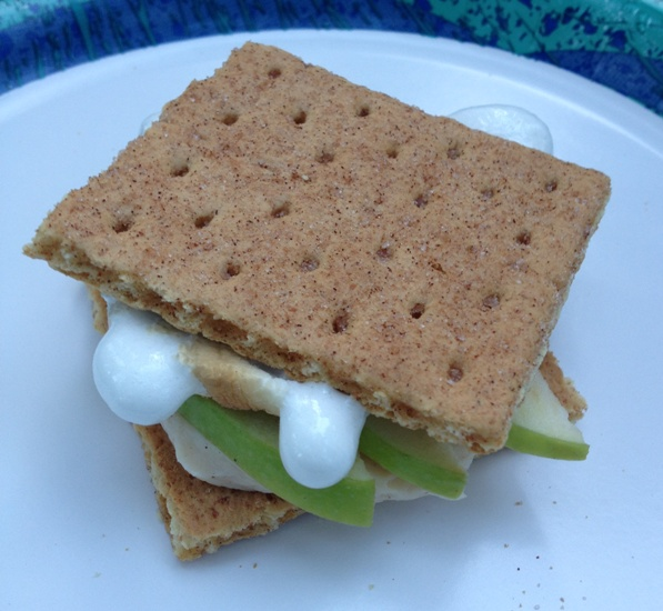 cinnamon green apple s'more