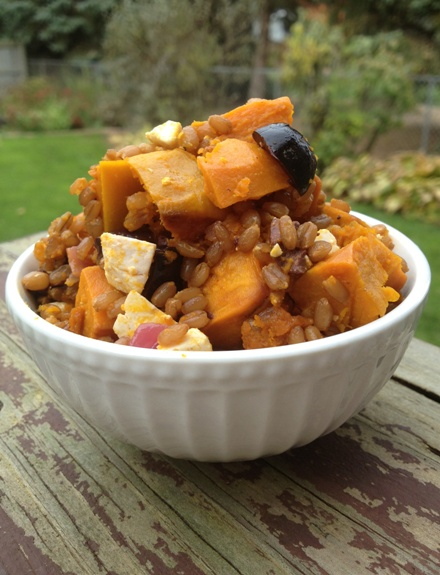 Wheat Berries and Squash