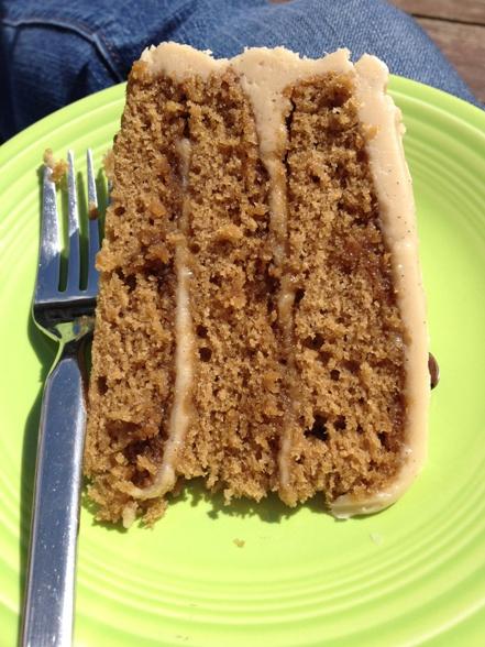 Cake in the sun.