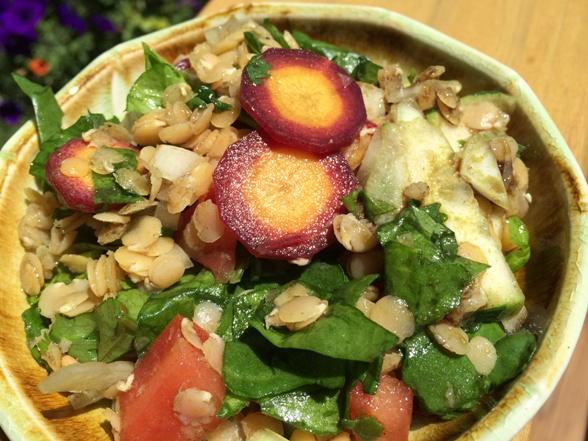 Spinach & Lentil Salad