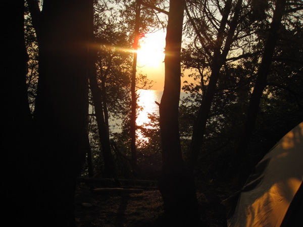 Sunset from camp.